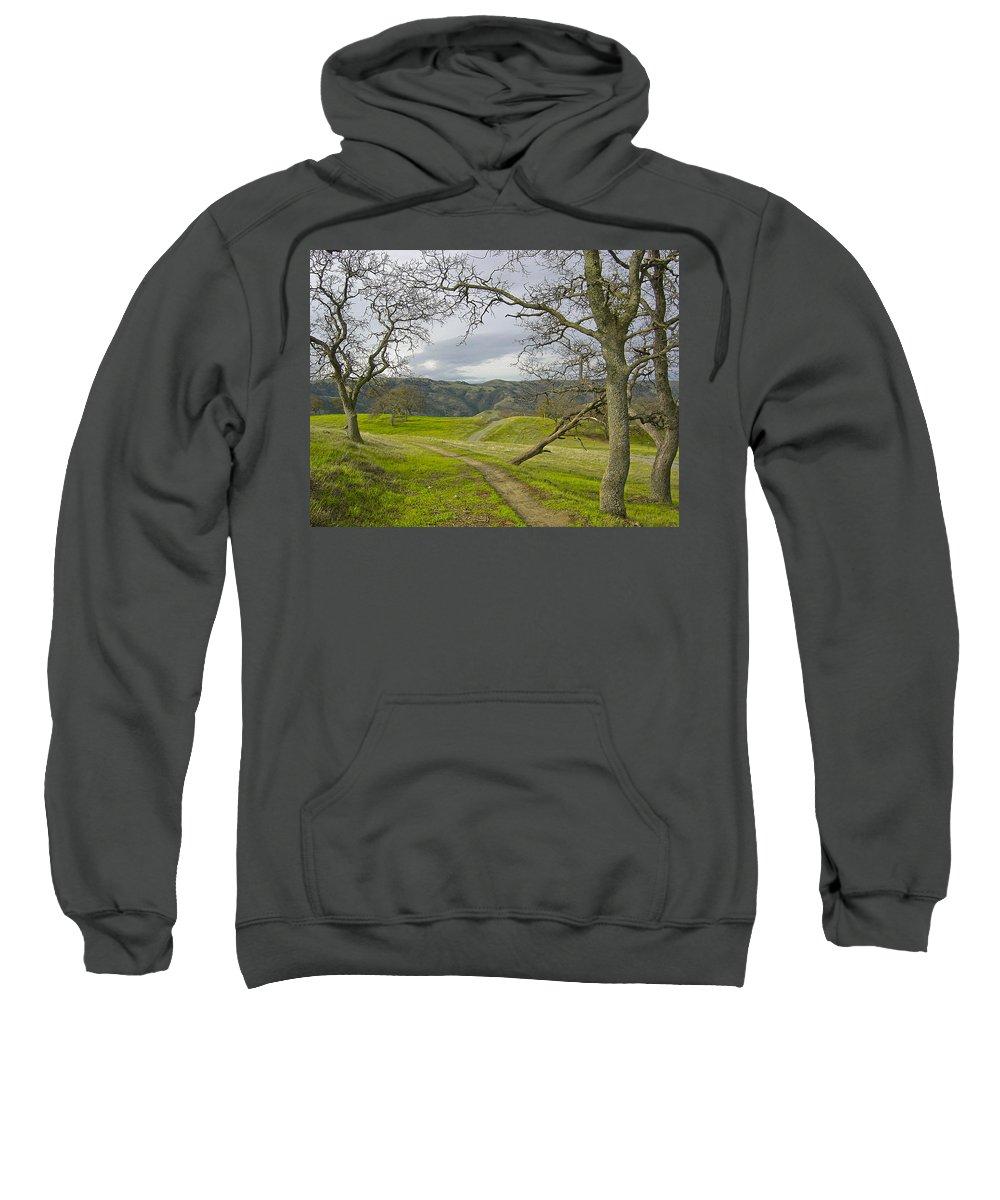 Landscape Sweatshirt featuring the photograph East Ridge Trail Spring by Karen W Meyer