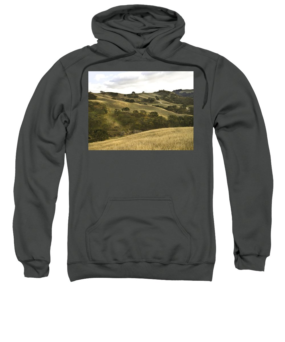 Landscape Sweatshirt featuring the photograph First Hill In Fall by Karen W Meyer