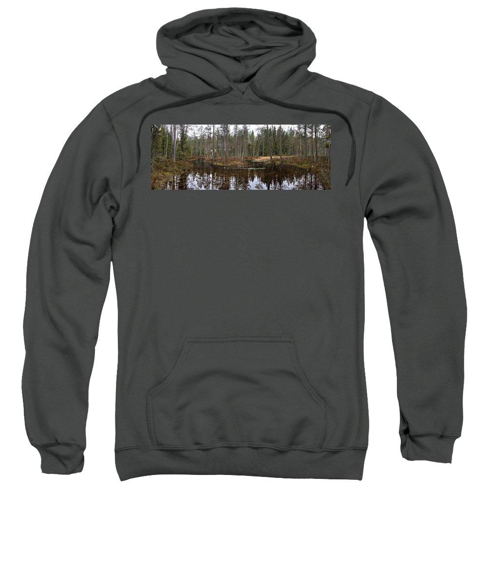Lehtokukka Sweatshirt featuring the photograph Haukkajoki Panorama 1 by Jouko Lehto