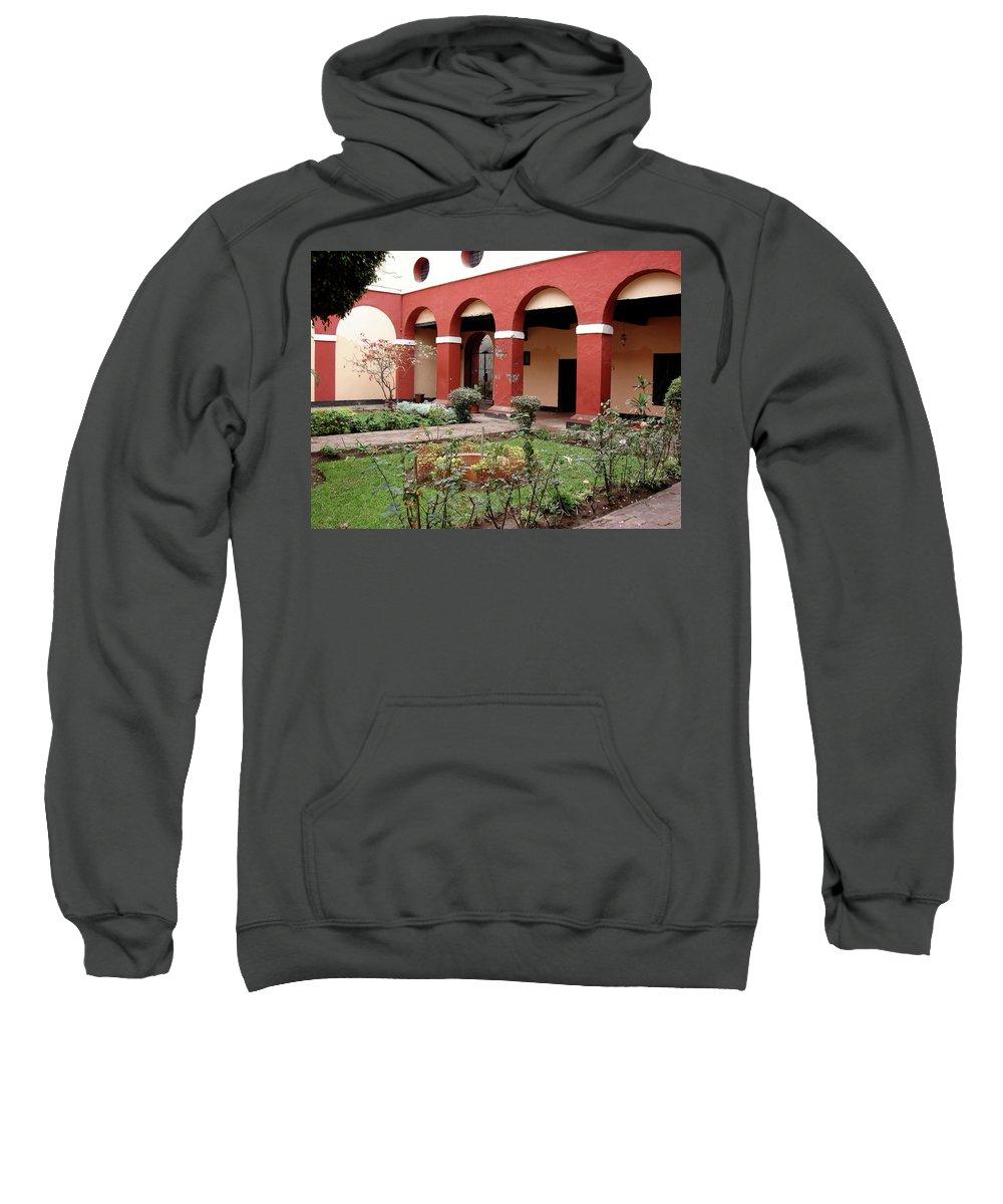 Lima Sweatshirt featuring the photograph Lima Peru Garden by Brett Winn