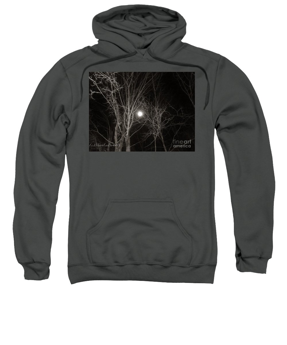 Photograph Sweatshirt featuring the mixed media Lonely Night by MaryLee Parker
