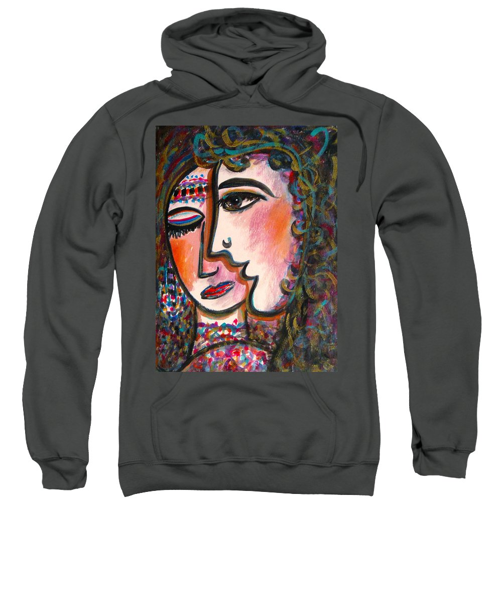 Lovers Sweatshirt featuring the painting Lovers by Natalie Holland