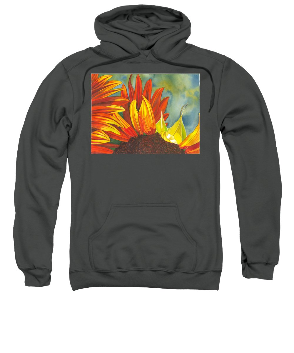 Sunflower Sweatshirt featuring the painting Ray by Catherine G McElroy