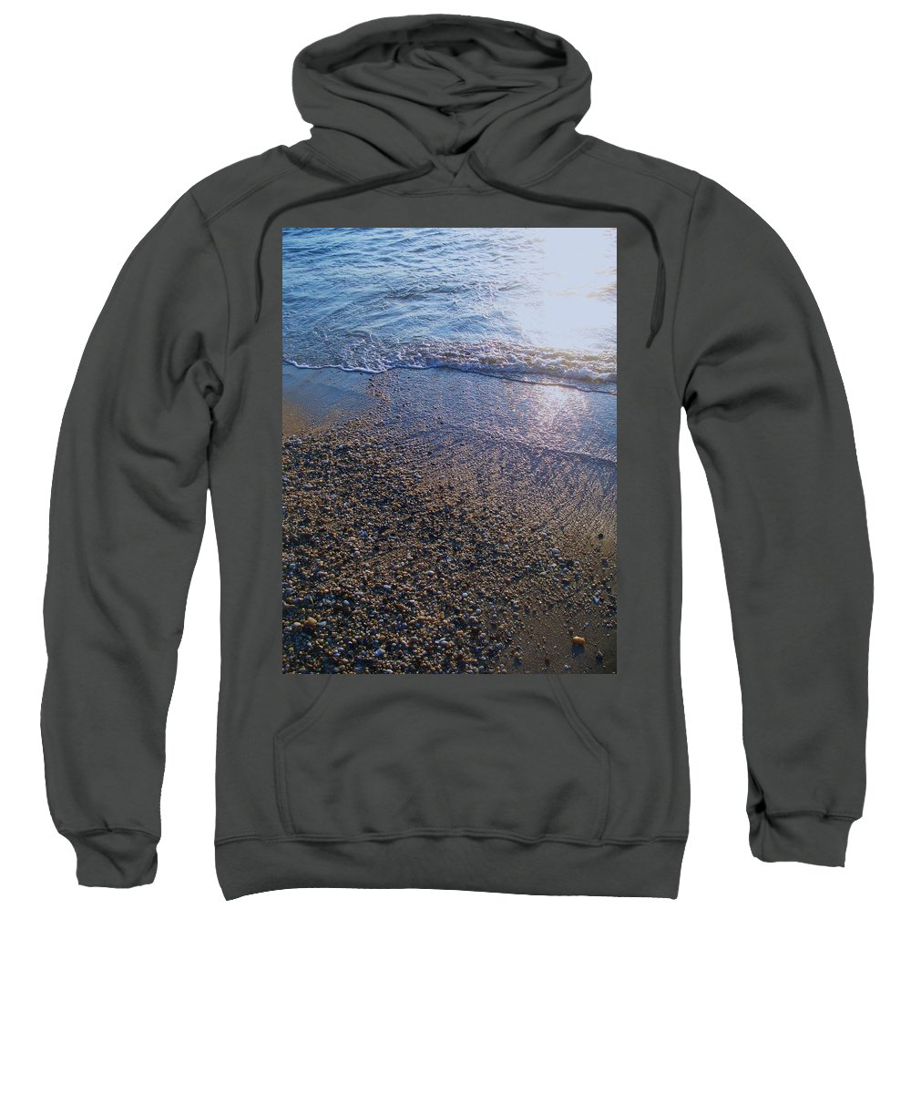 Waves Sweatshirt featuring the painting Refreshing Surf by Eric Schiabor