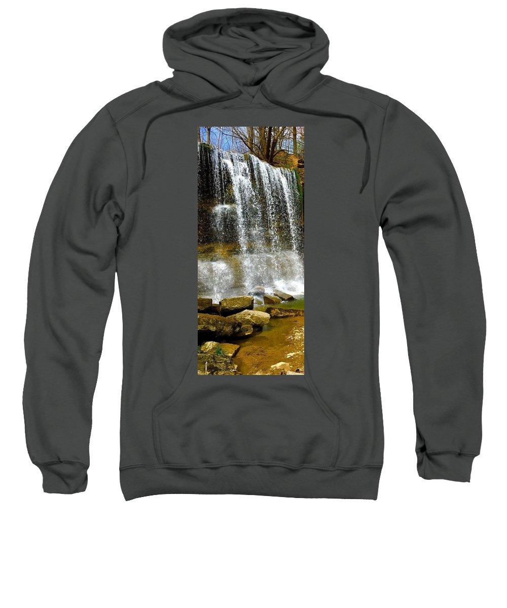 Sweatshirt featuring the photograph Rock Glen Falls Iphone 6s by Daniel Thompson