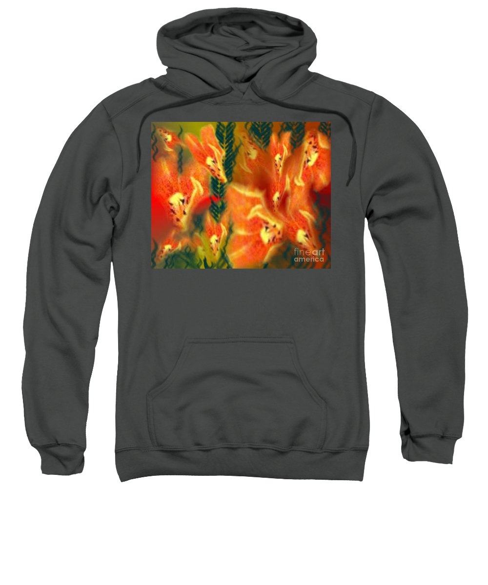 Florals Sweatshirt featuring the digital art Symphonic Dance by Brenda L Spencer