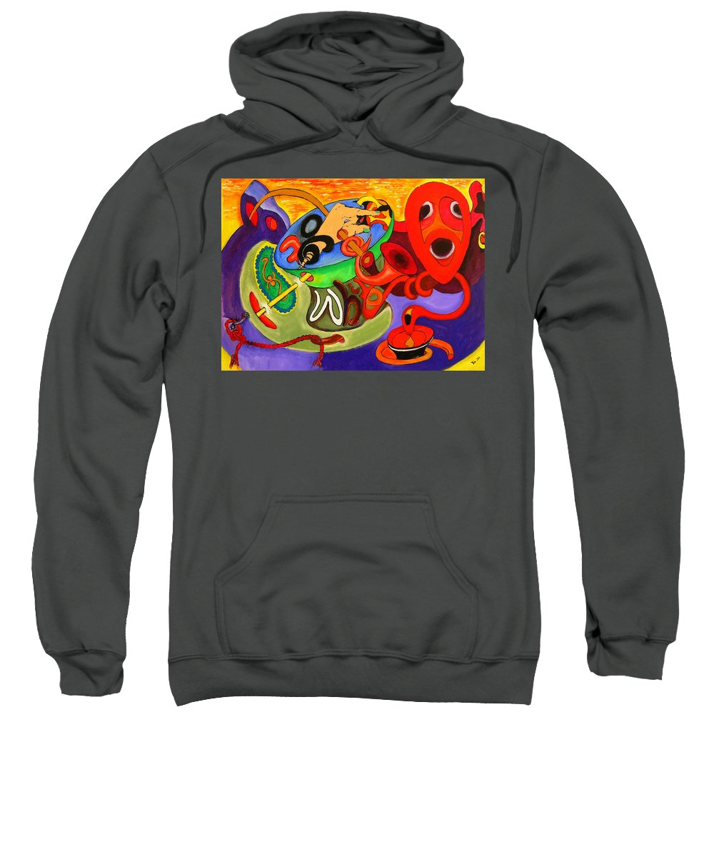 Time Sweatshirt featuring the painting Time Constraints by Helmut Rottler