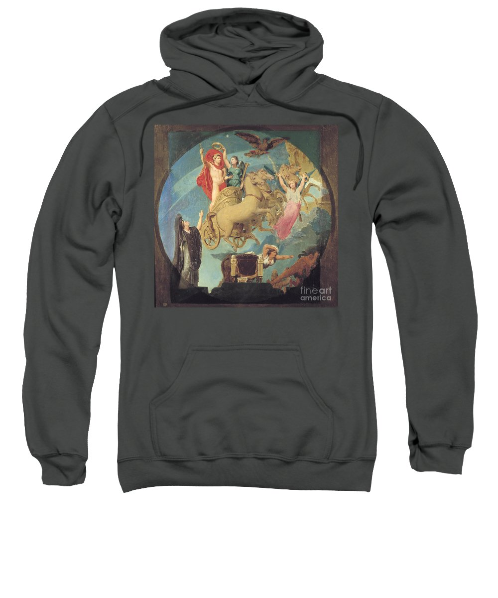 1835 Sweatshirt featuring the painting Napoleon I (1769-1821) by Granger