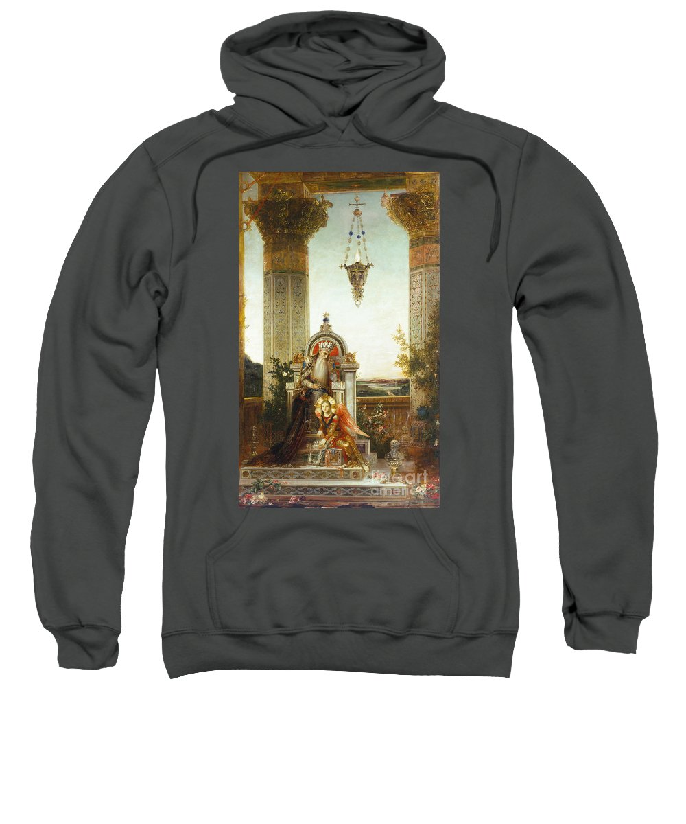 19th Century Sweatshirt featuring the painting Moreau: King David by Granger