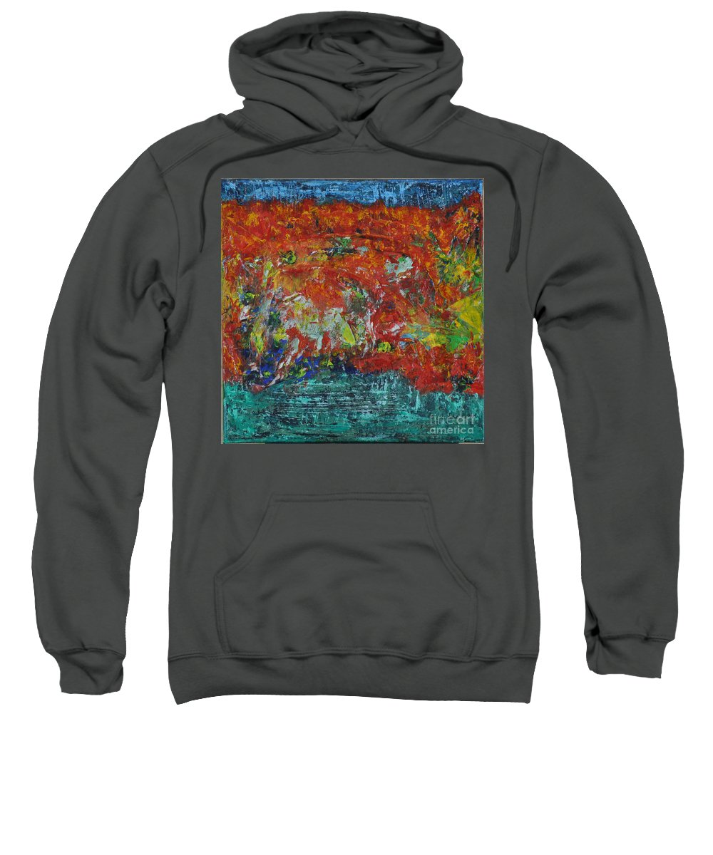 Abstract Sweatshirt featuring the painting 057 Abstract Thought by Chowdary V Arikatla