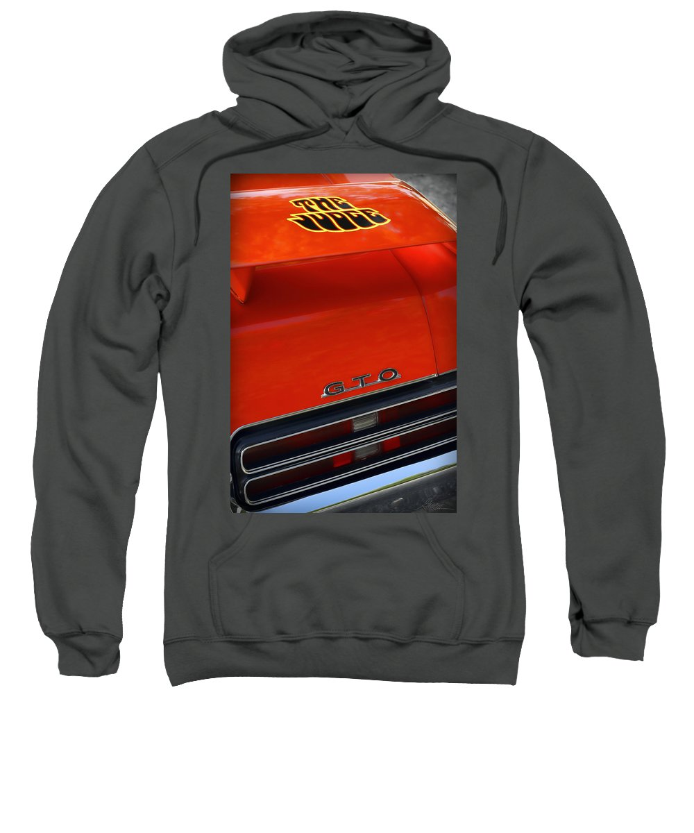 1967 Sweatshirt featuring the photograph 1969 Pontiac Gto The Judge by Gordon Dean II