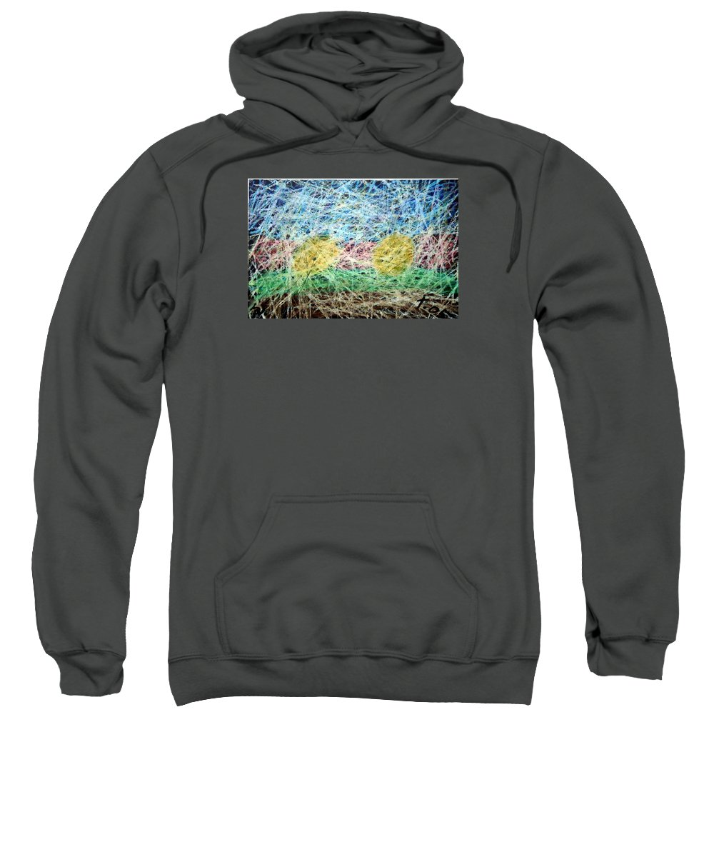 Sweatshirt featuring the painting 31 by Terry Wiklund
