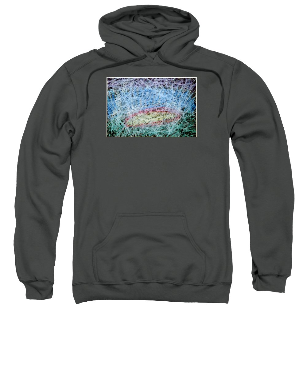 Sweatshirt featuring the painting 41 by Terry Wiklund