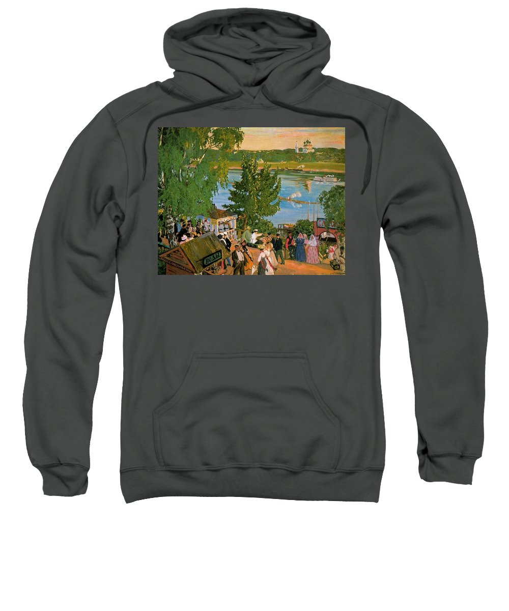 Tree Sweatshirt featuring the digital art 43785 Boris Kustodiev by Eloisa Mannion