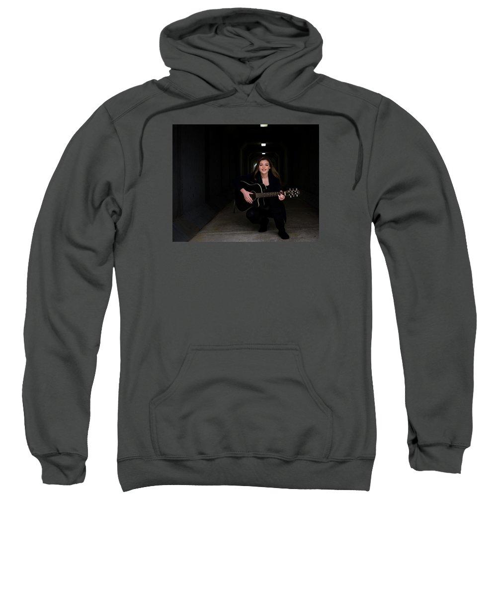 Musician Sweatshirt featuring the photograph 9549 by Teresa Blanton