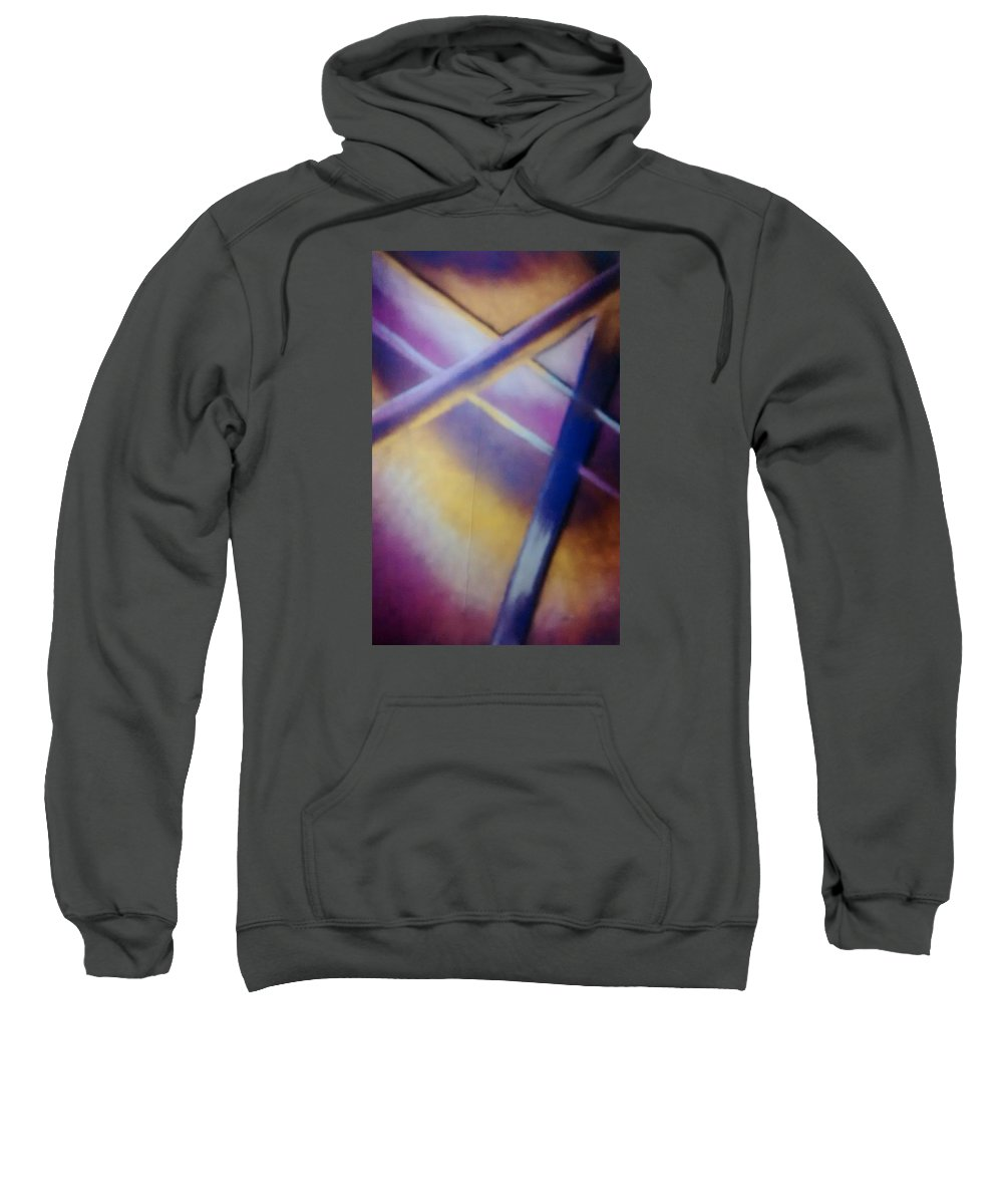 Abstract Sweatshirt featuring the pastel Abstract Art by Sylvester Wofford