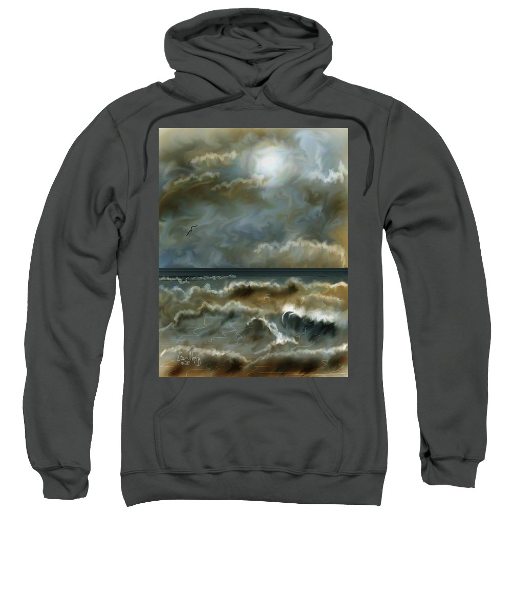 Seascape Sweatshirt featuring the painting After The Squall by Anne Norskog