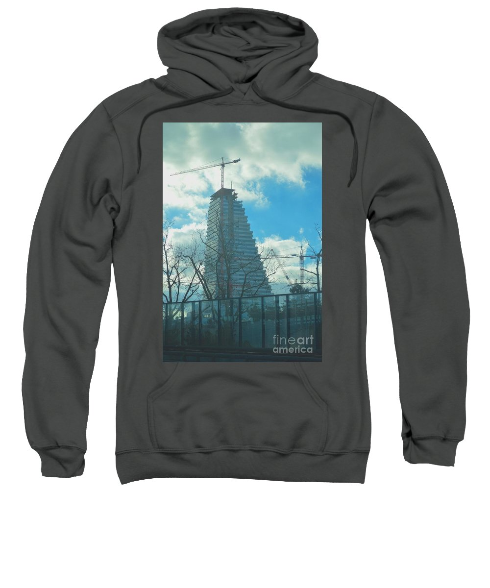 Architecture Sweatshirt featuring the photograph Architectural Skies by Photos By Zulma