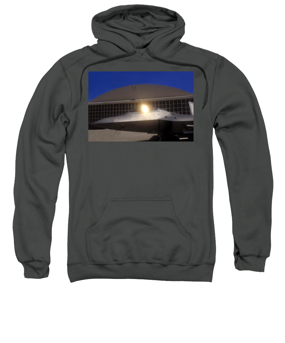 Area 51 Sweatshirt featuring the painting Area 51 by David Lee Thompson