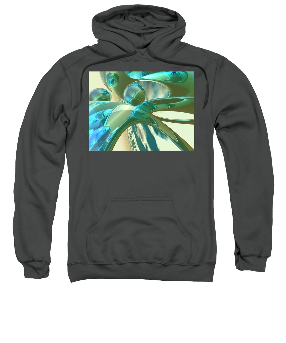 Scott Piers Sweatshirt featuring the painting Ashton by Scott Piers
