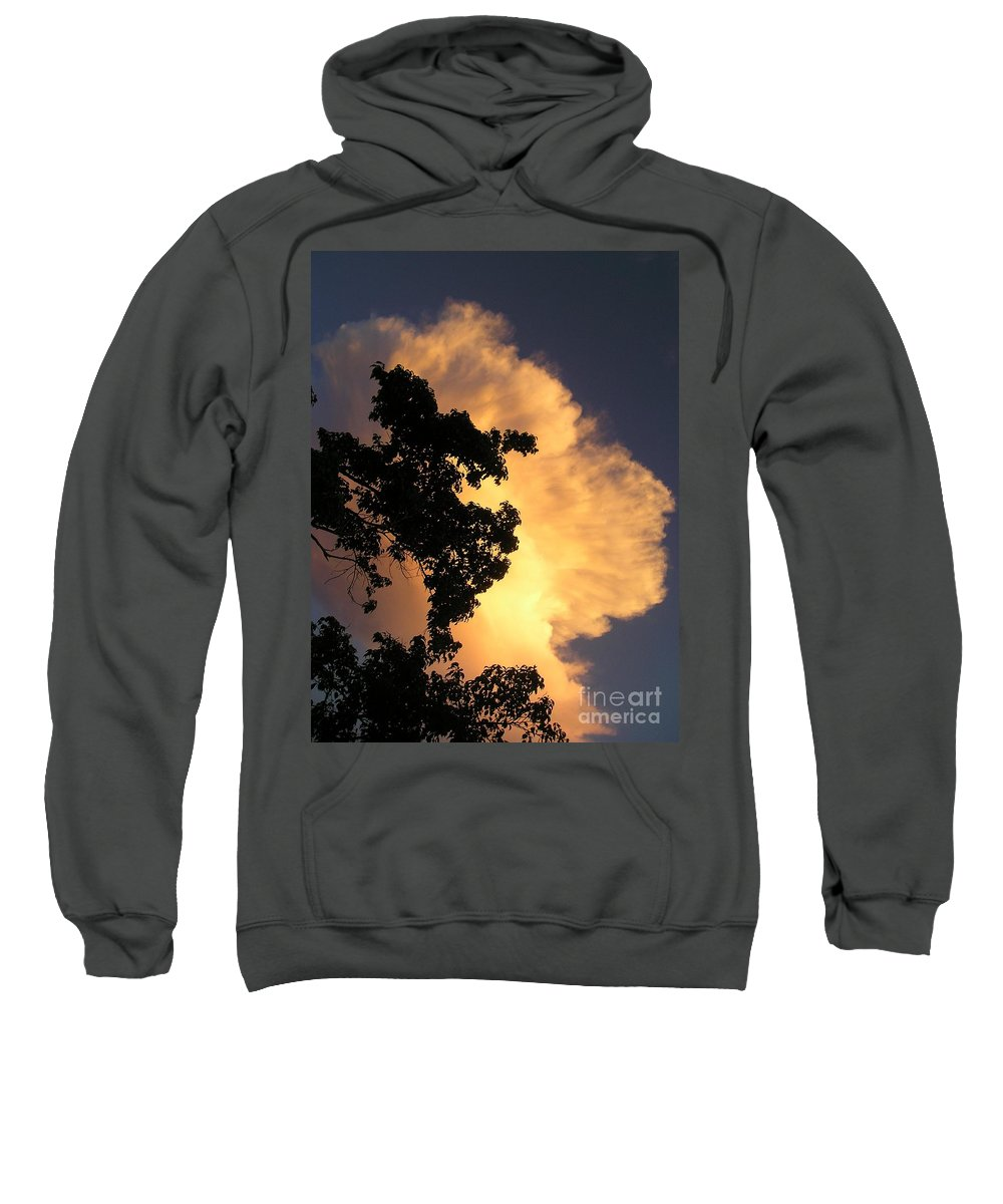 Clouds Sweatshirt featuring the photograph August Thunder by Maria Bonnier-Perez