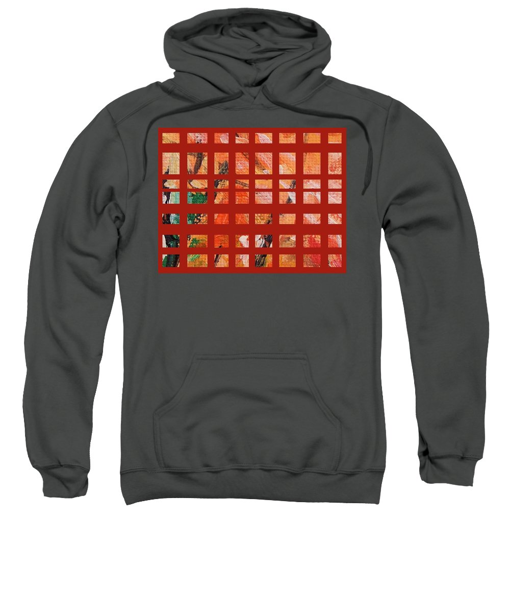 Autumn Sweatshirt featuring the painting Autumn Abstract by Eric Schiabor