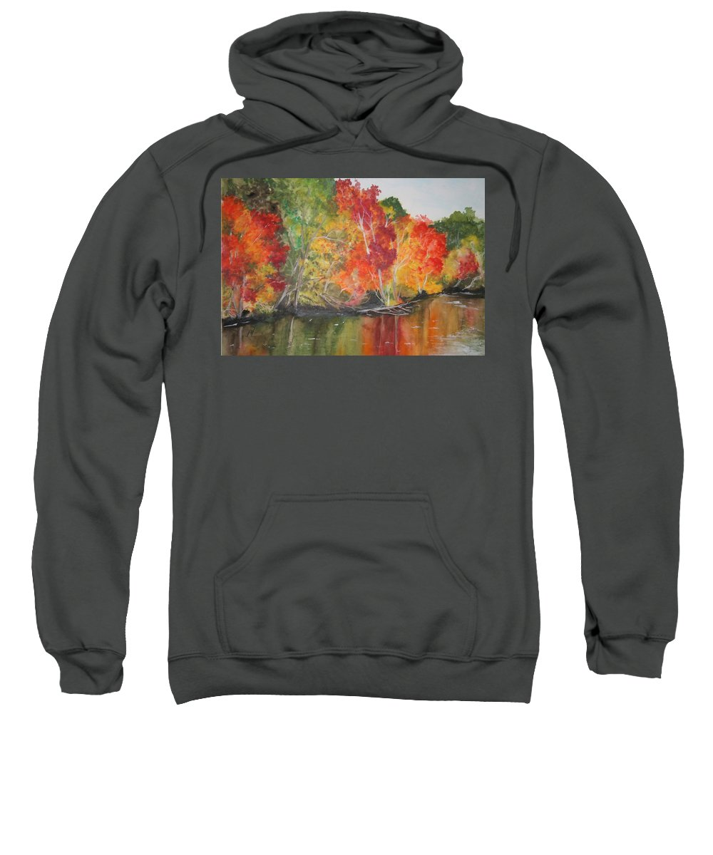 Autumn Sweatshirt featuring the painting Autumn Splendor by Jean Blackmer