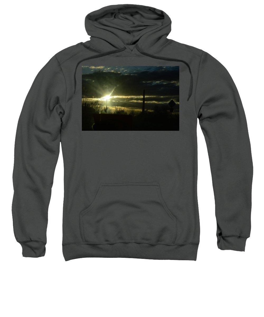 Sweatshirt featuring the photograph Az Cloudy Sunset by Joshua Barham