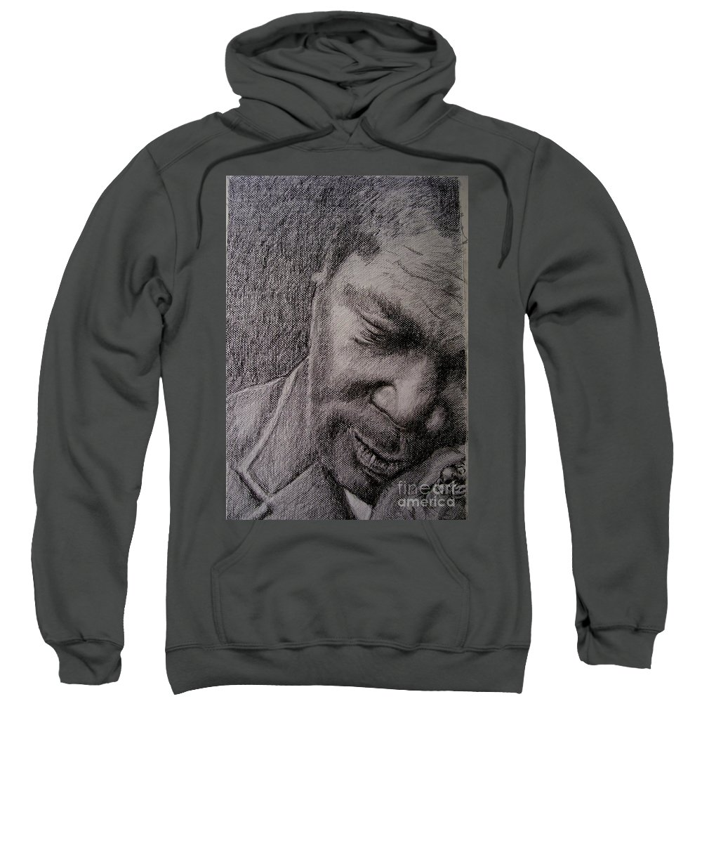 Bbking Sweatshirt featuring the painting Bbking by Frances Marino