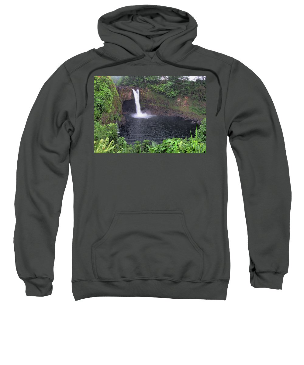 Pamela Walton Sweatshirt featuring the photograph Beautiful Rainbow Falls 2 by Pamela Walton
