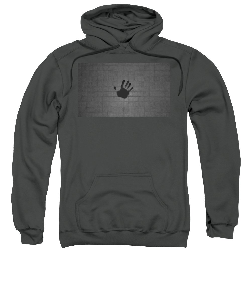 Hand Print Sweatshirt featuring the photograph Black Hand by Rob Hans