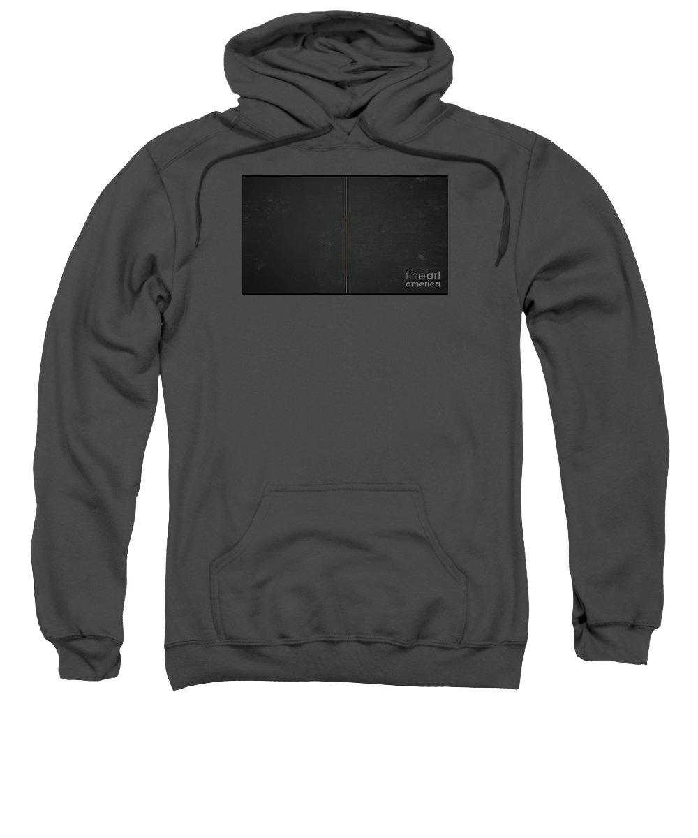 Blackboard Divided Sweatshirt featuring the painting Blackboard Divided by Archangelus Gallery