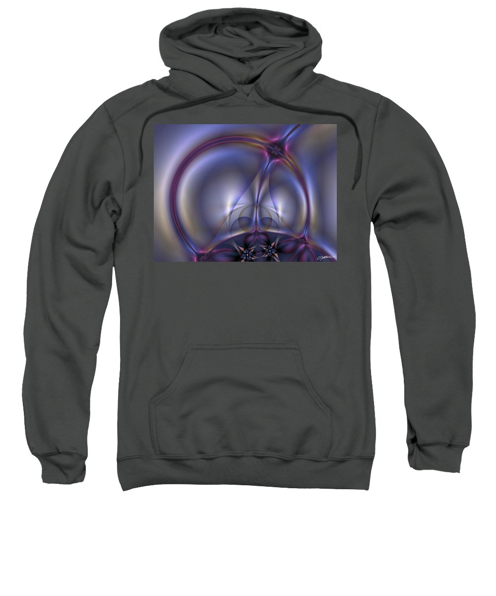 Abstract Sweatshirt featuring the digital art Bound By Light by Casey Kotas
