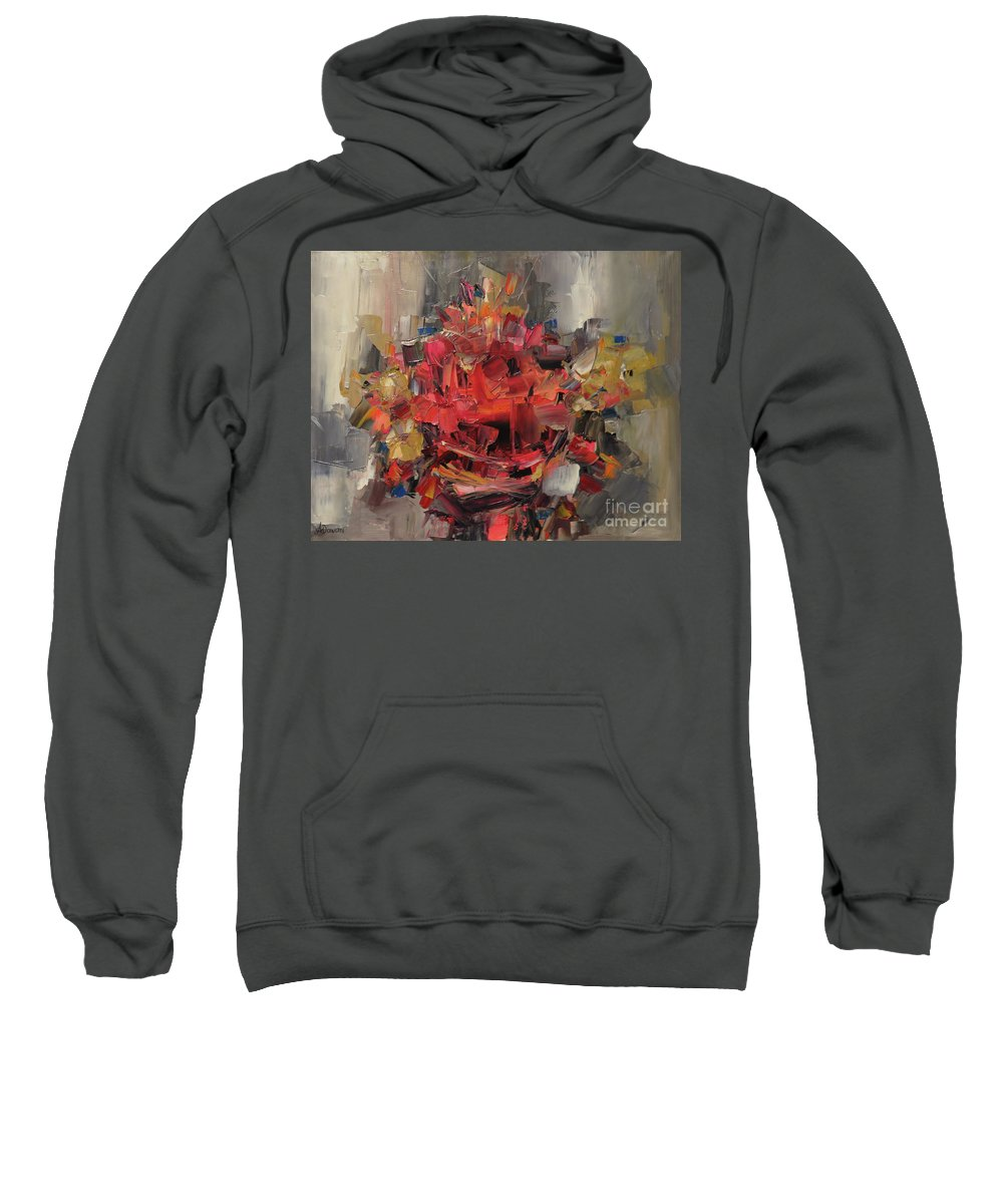 Abstract Sweatshirt featuring the painting Bouquet by Ana Dawani