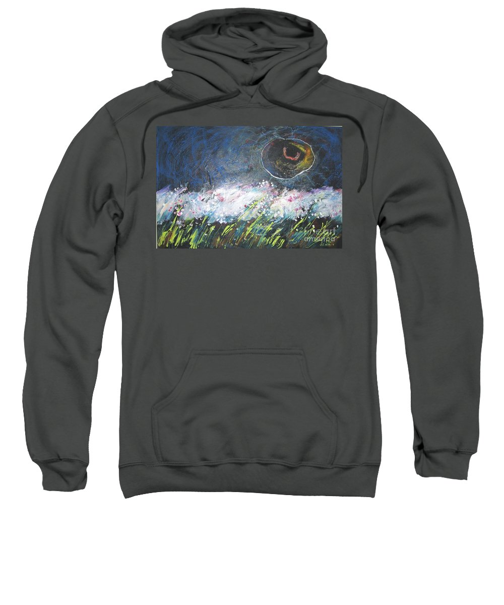 Aabstract Paintings Sweatshirt featuring the painting Buckwheat Field by Seon-Jeong Kim