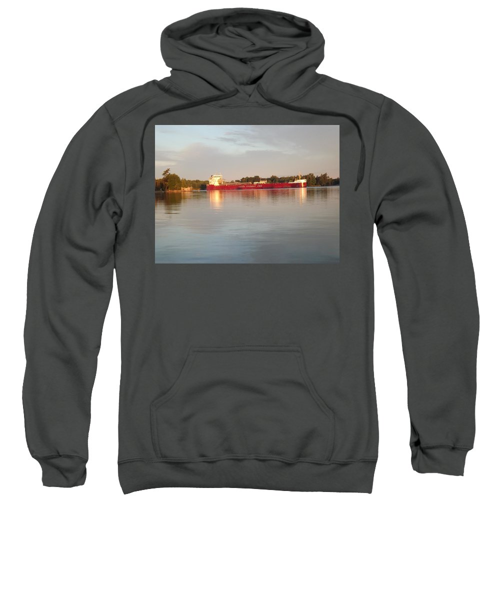 Summer Sweatshirt featuring the photograph Canada Steamship Lines by Joseph F Safin