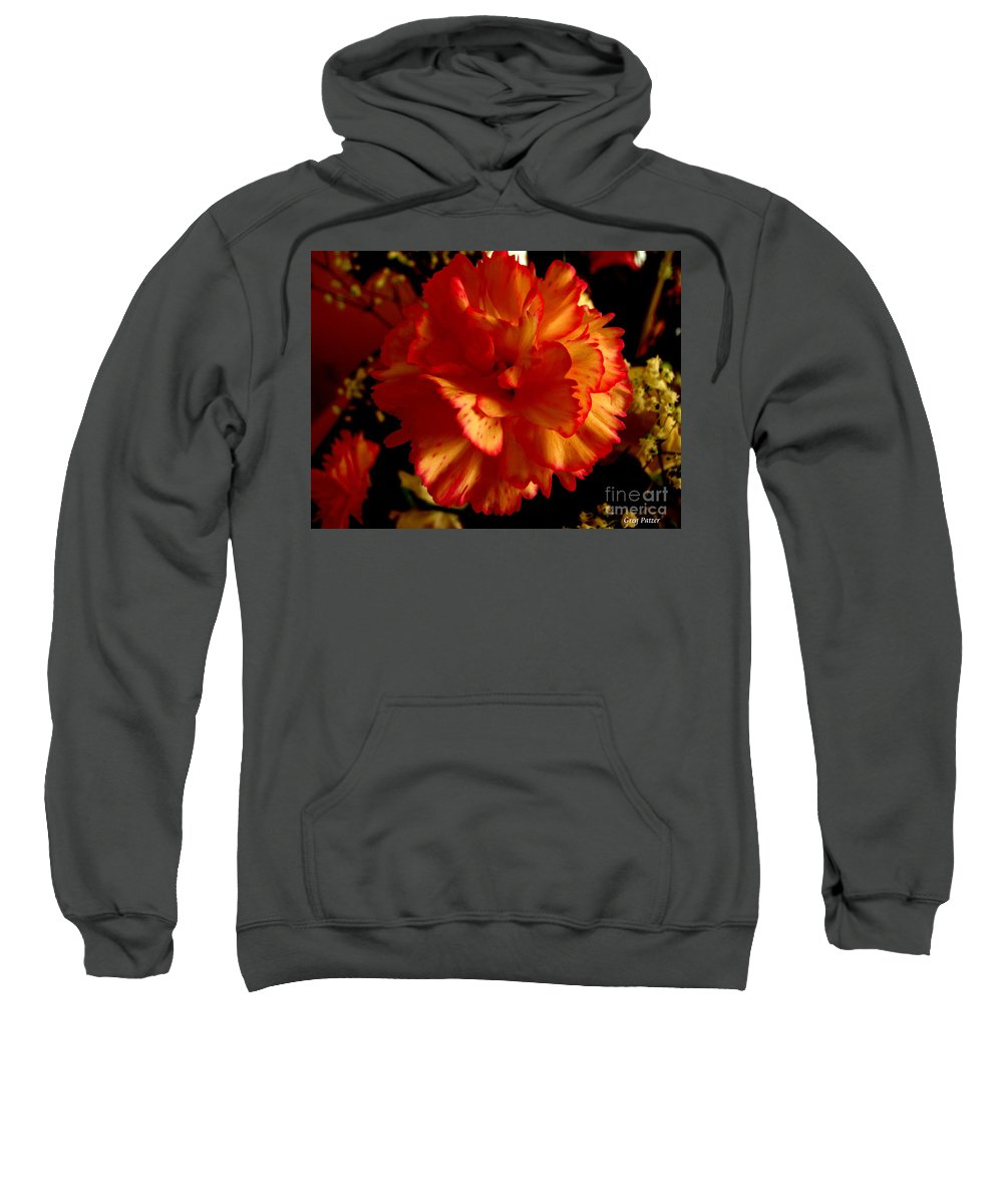 Patzer Sweatshirt featuring the photograph Carnation by Greg Patzer