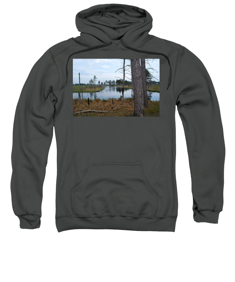 Nature Sweatshirt featuring the photograph Channel by Linda Kerkau
