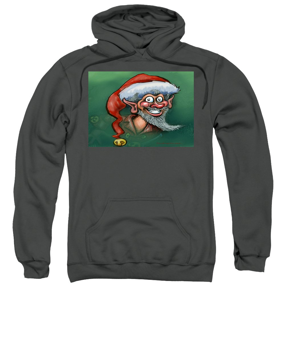 Elf Sweatshirt featuring the digital art Christmas Elf by Kevin Middleton