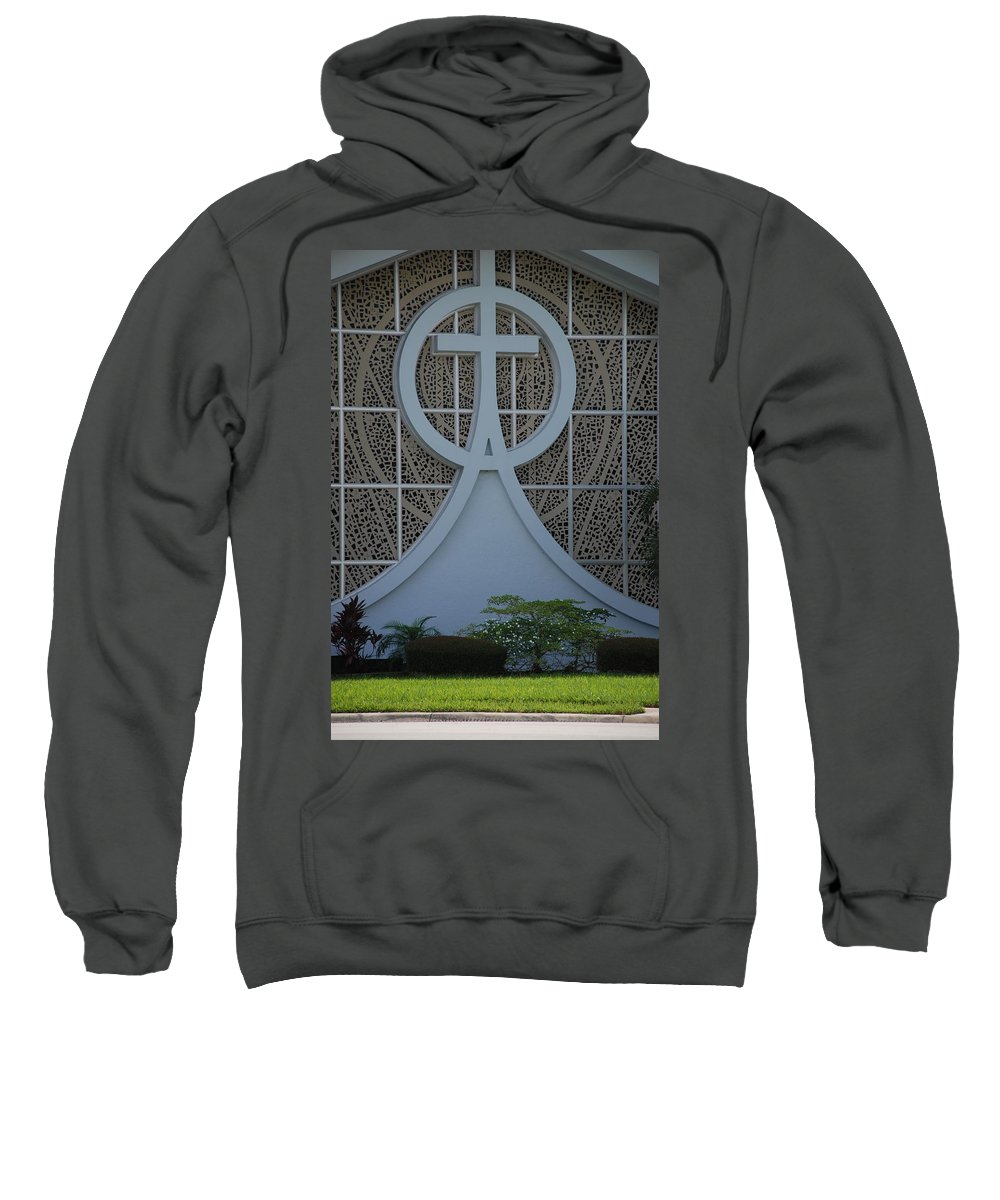 Church Sweatshirt featuring the photograph Circle T Church by Rob Hans