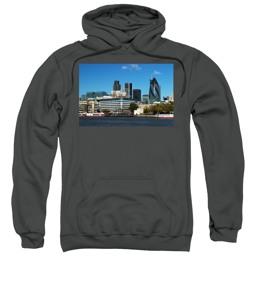 City Of London Sweatshirt featuring the photograph City Of London Skyline by Chris Day