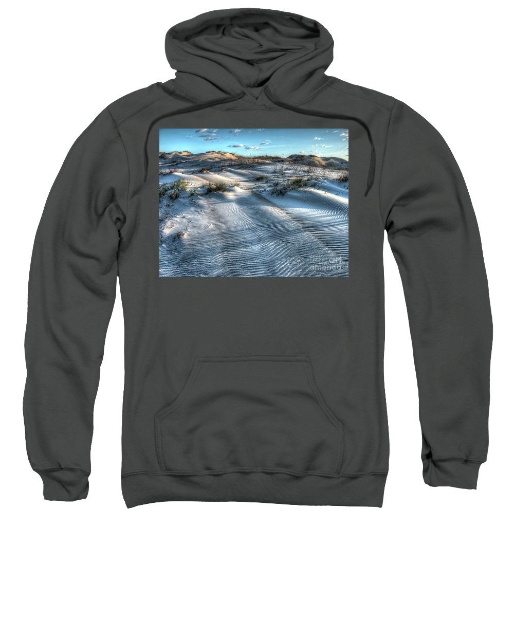 Currituck Beach Sweatshirt featuring the photograph Coquina Beach, Cape Hatteras, North Carolina by Greg Hager