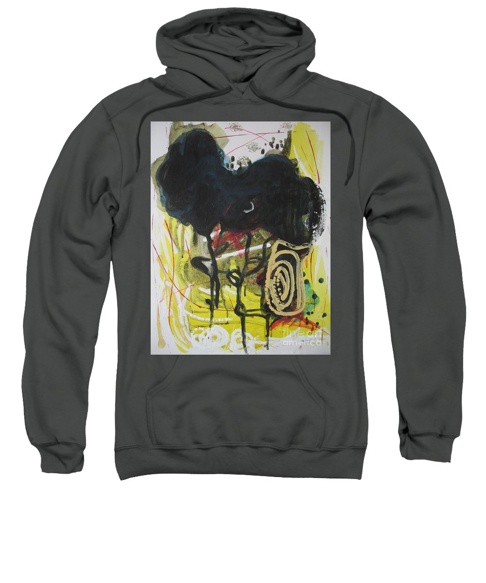 Abstract Paintings Sweatshirt featuring the painting Crescent2 by Seon-Jeong Kim