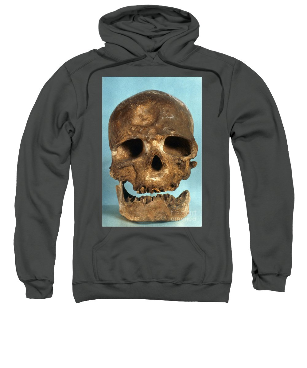 Artifact Sweatshirt featuring the photograph Cro-magnon Skull by Granger
