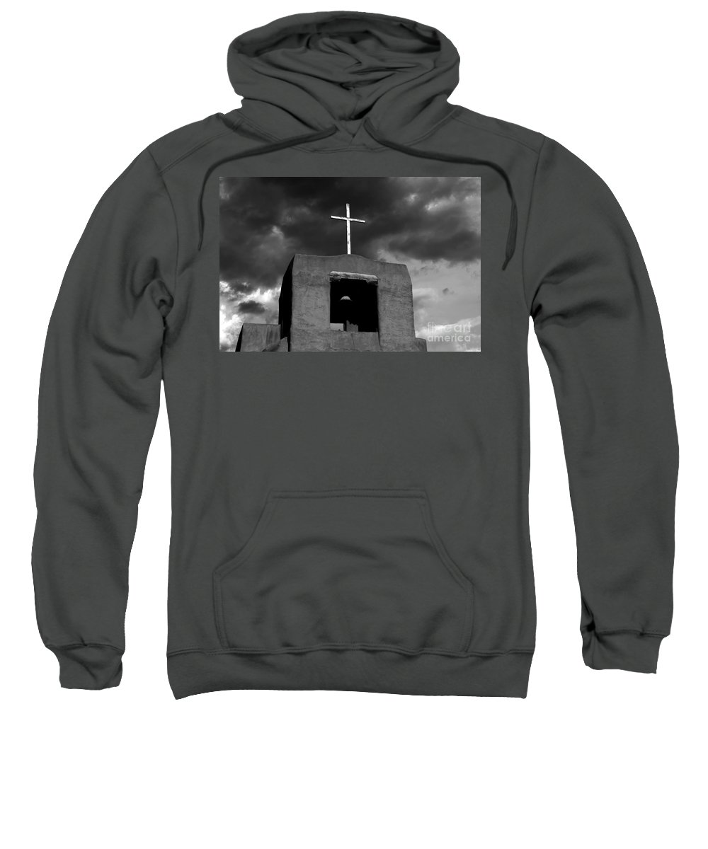 Cross Sweatshirt featuring the photograph Cross And Bell by David Lee Thompson