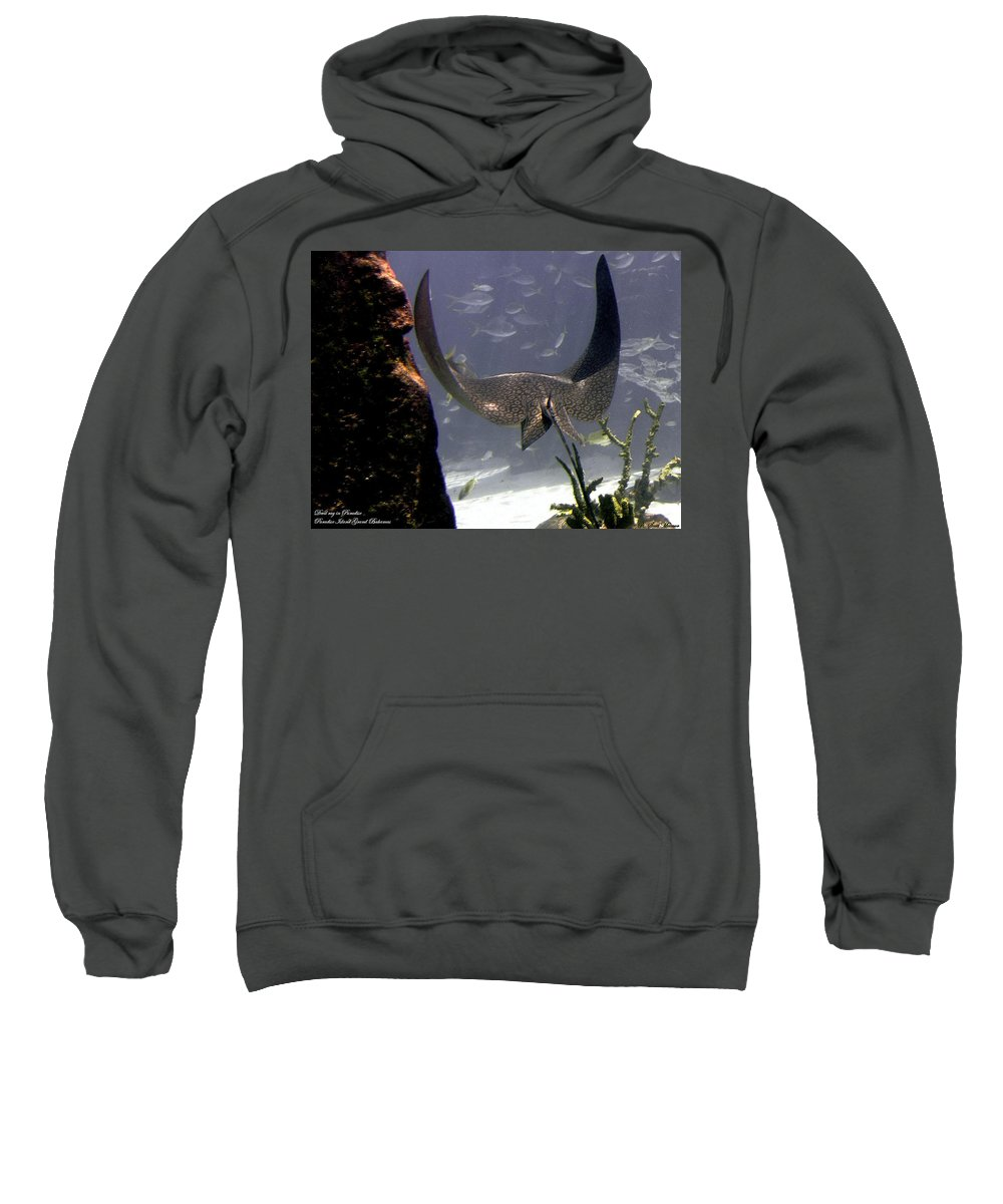 Fish Sweatshirt featuring the photograph Devilray In Paradise by Robert Meanor