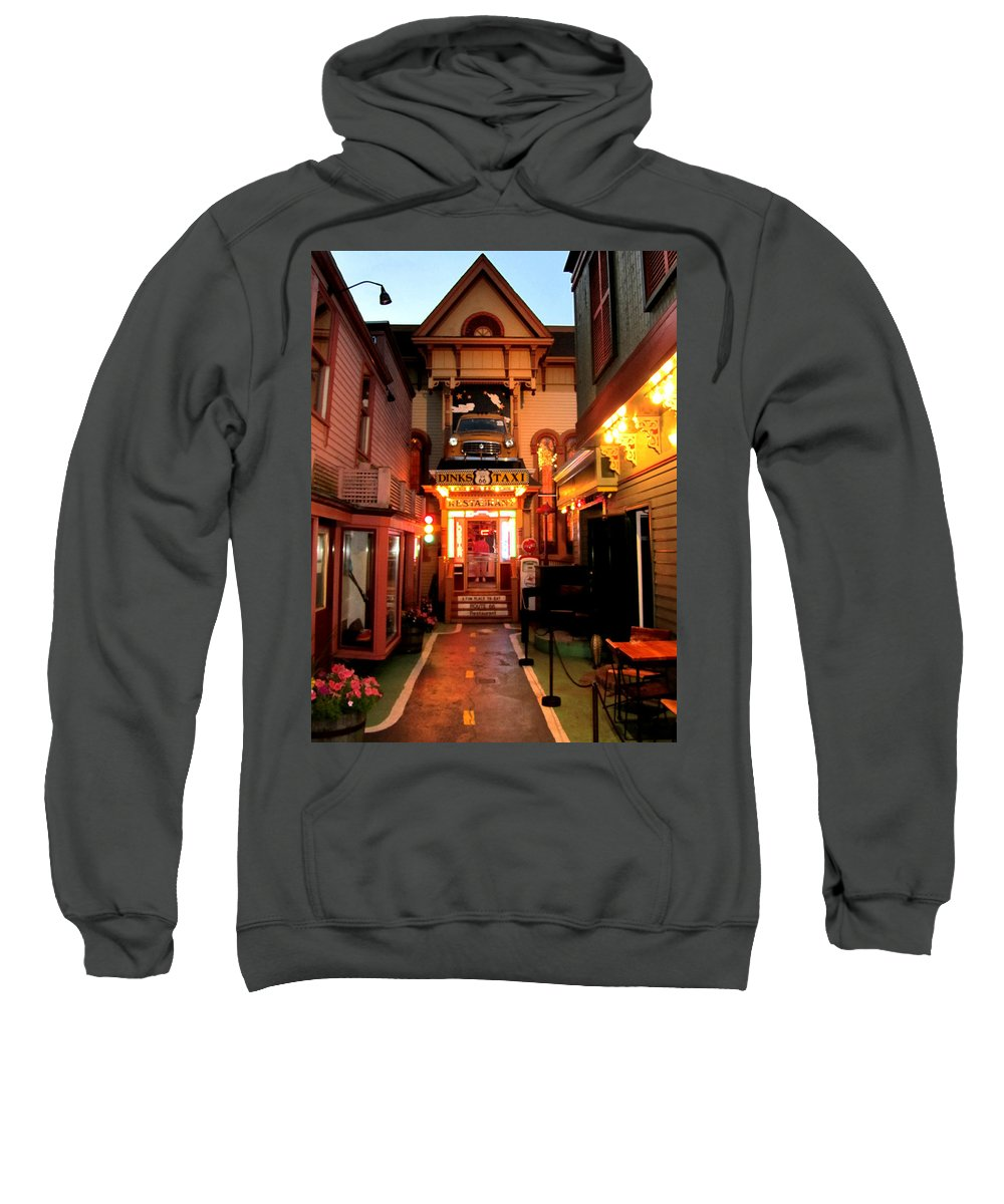 Dink�s Taxi Sweatshirt featuring the photograph Dinks Taxi 1 by Mark Sellers
