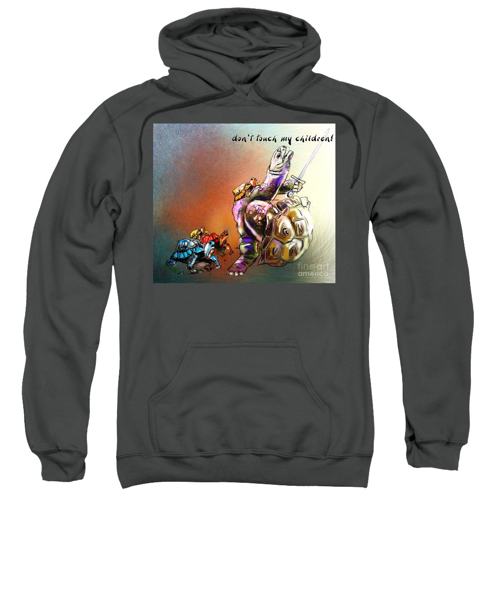 Turtle Painting Sweatshirt featuring the digital art Don by Miki De Goodaboom