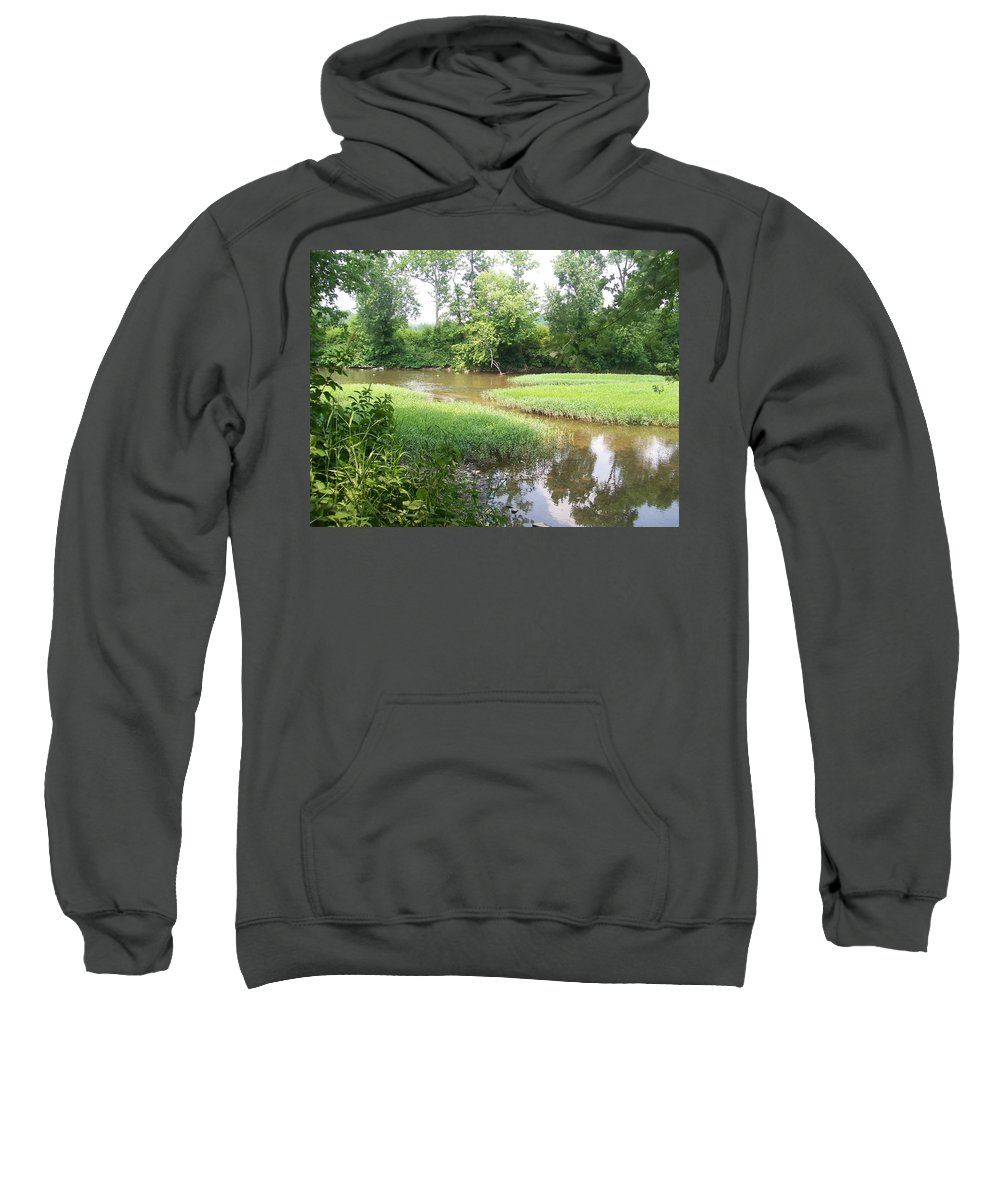 Creek Sweatshirt featuring the photograph Down By The Creek by R Chambers