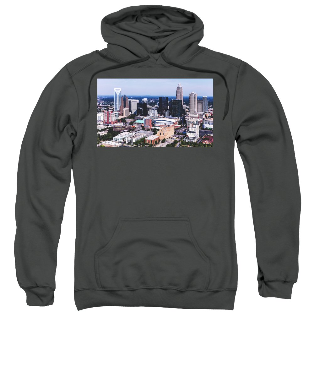 Charlotte Sweatshirt featuring the photograph Downtown Charlotte by Library Of Congress